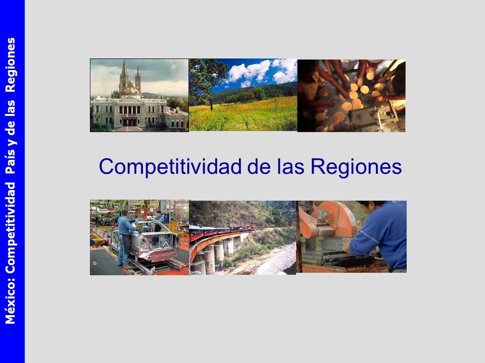 México: Competitividad País y de las Regiones Competitividad de las Regiones