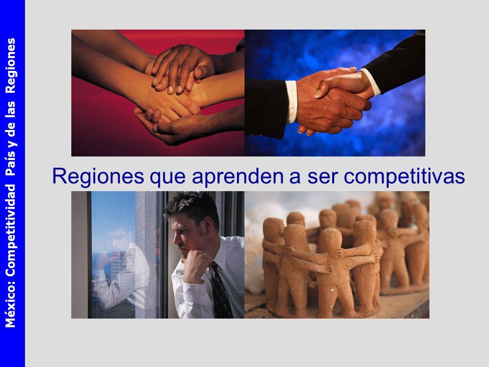 México: Competitividad País y de las Regiones Regiones que aprenden a ser competitivas