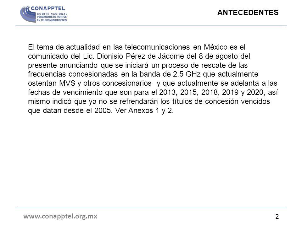El tema de actualidad en las telecomunicaciones en México es el comunicado del Lic.