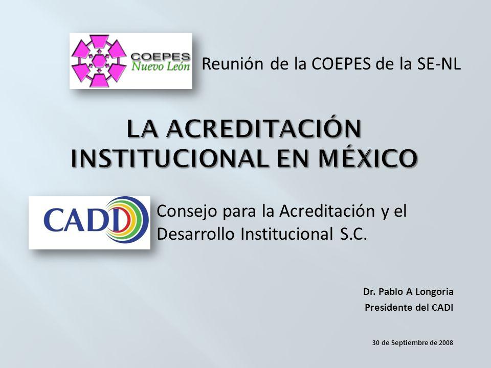 Consejo para la Acreditación y el Desarrollo Institucional S.C.