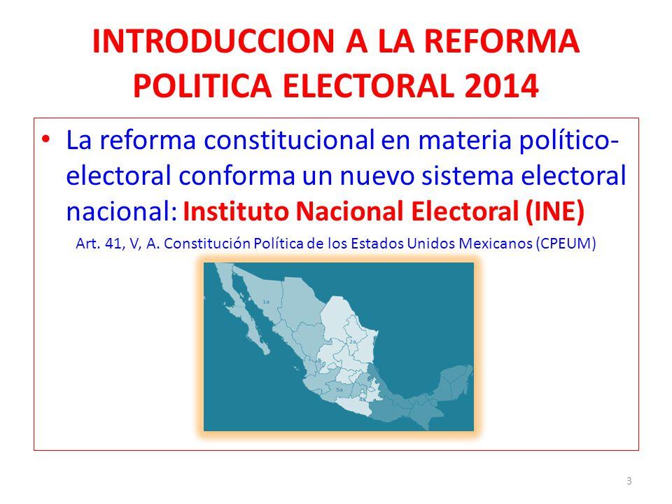 Instituto Nacional Electoral (INE) Aumenta el número de consejeros electorales federales de nueve a once con una duración de nueve años en el cargo (Art.