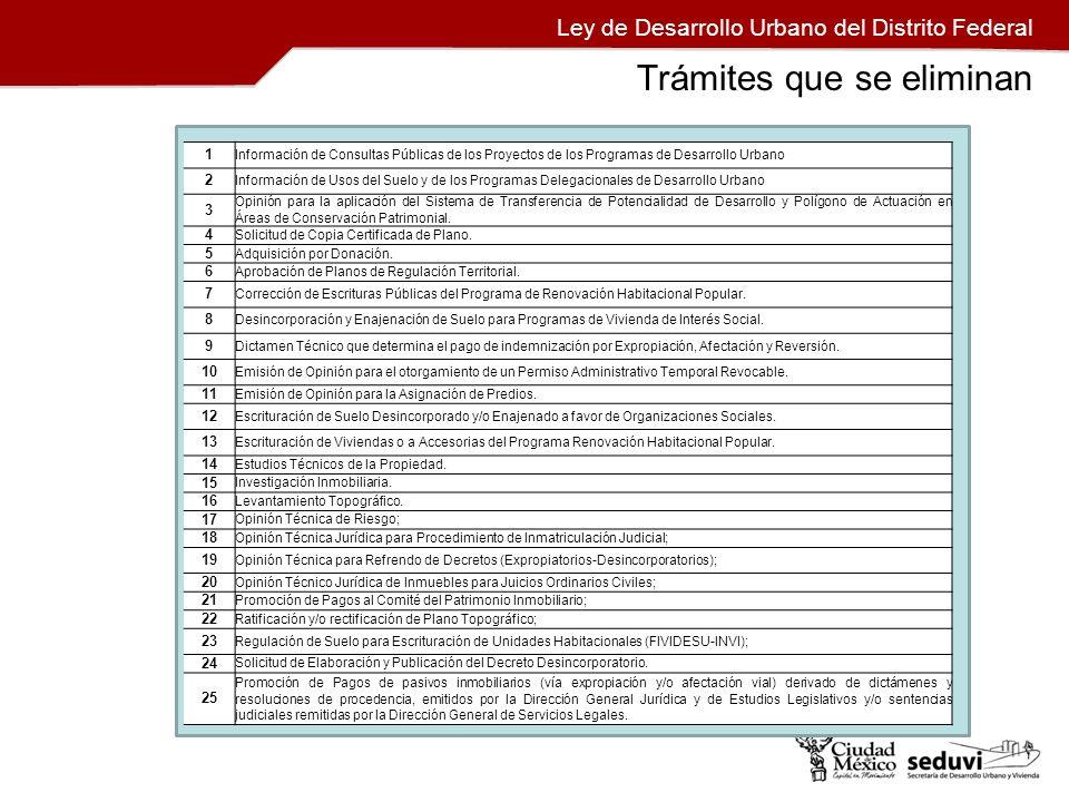 Ley de Desarrollo Urbano del Distrito Federal 1 Información de Consultas Públicas de los Proyectos de los Programas de Desarrollo Urbano 2 Información