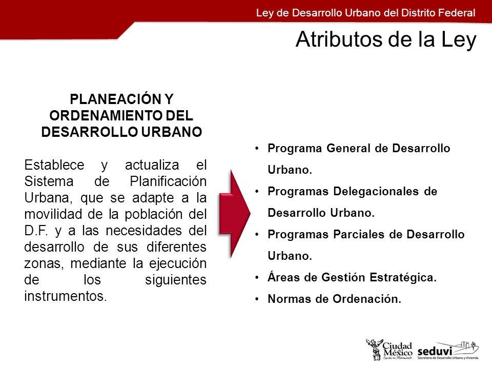 PLANEACIÓN Y ORDENAMIENTO DEL DESARROLLO URBANO Establece y actualiza el Sistema de Planificación Urbana, que se adapte a la movilidad de la población