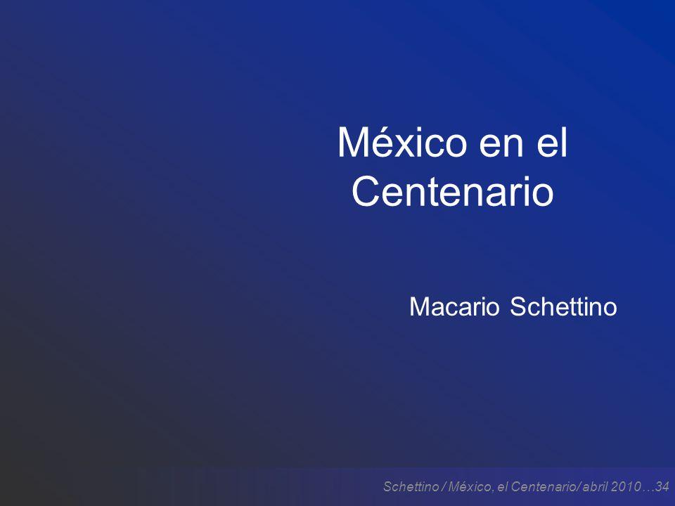 Schettino / México, el Centenario/ abril 2010…34 México en el Centenario Macario Schettino