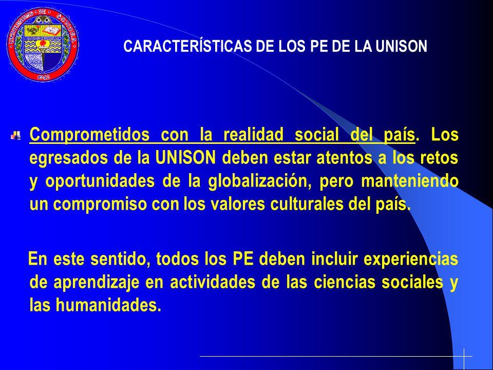 Vinculados a los sectores productivo y social.