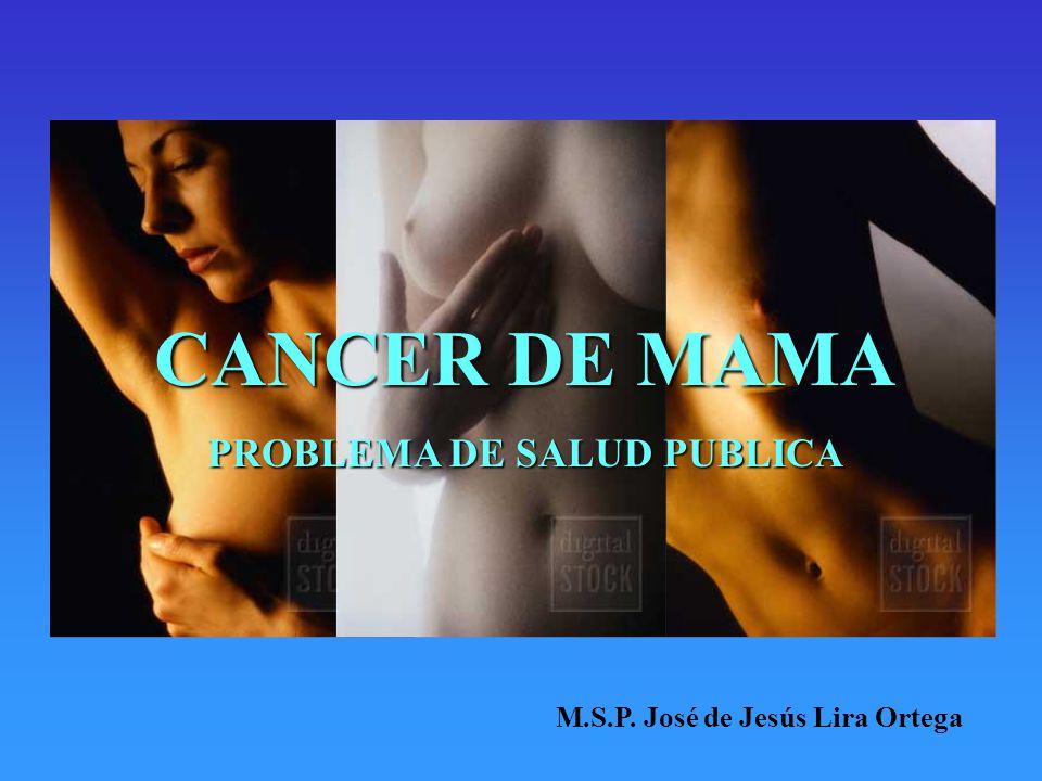 CANCER DE MAMA PROBLEMA DE SALUD PUBLICA M.S.P. José de Jesús Lira Ortega