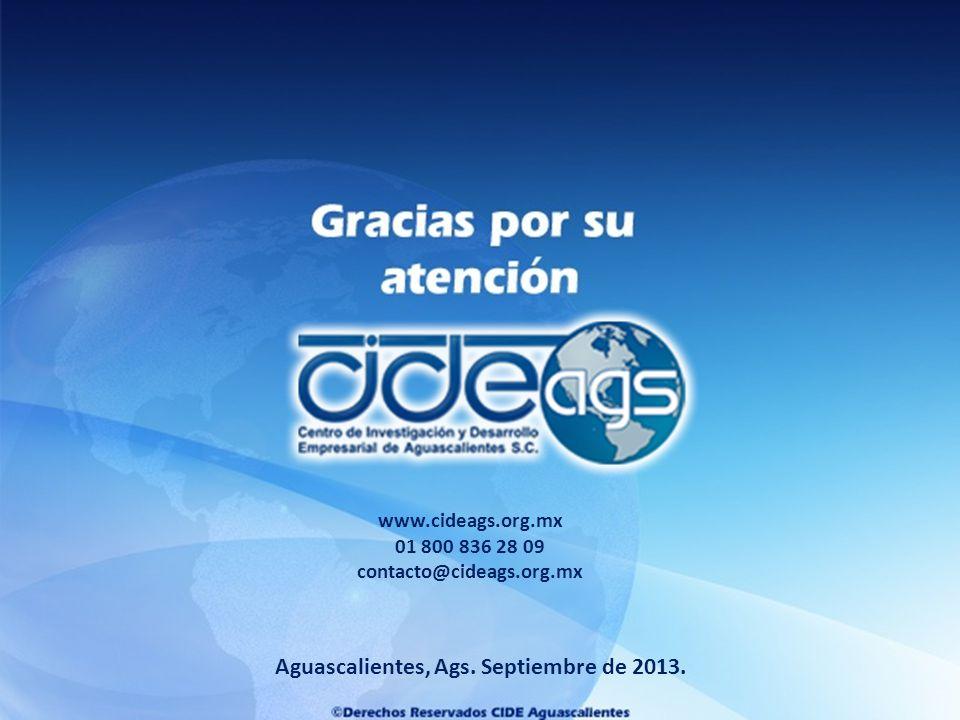 Aguascalientes, Ags.Septiembre de 2013.