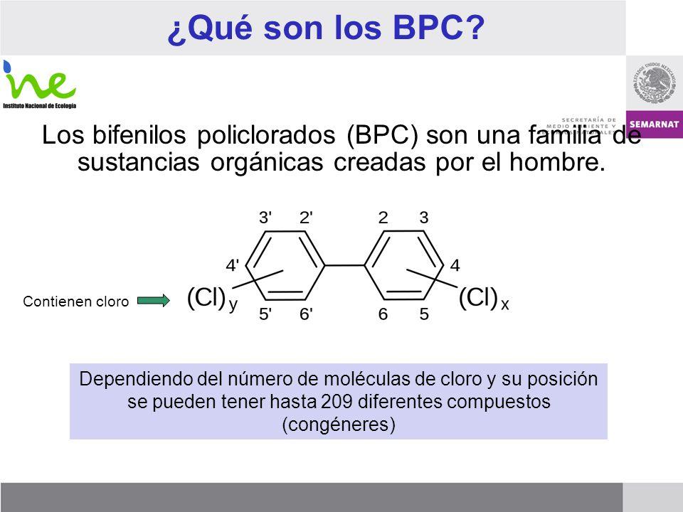 ¿Qué son los BPC? Los bifenilos policlorados (BPC) son una familia de sustancias orgánicas creadas por el hombre. Dependiendo del número de moléculas