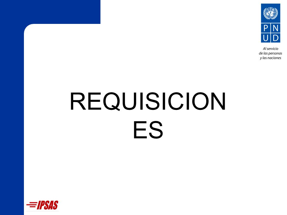 REQUISICION ES