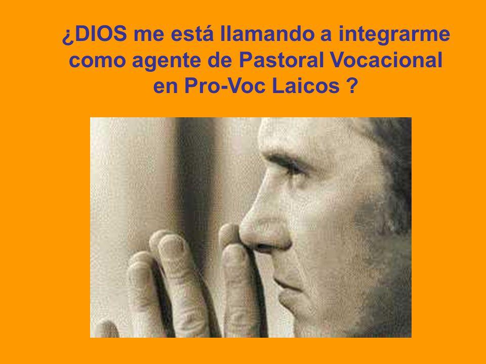 ¿DIOS me está llamando a integrarme como agente de Pastoral Vocacional en Pro-Voc Laicos ?