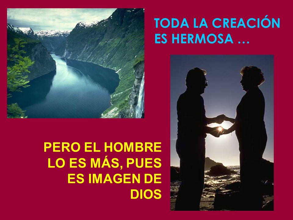 TODA LA CREACIÓN ES HERMOSA … PERO EL HOMBRE LO ES MÁS, PUES ES IMAGEN DE DIOS