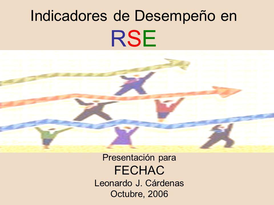 Indicadores de Desempeño en RSE Presentación para FECHAC Leonardo J. Cárdenas Octubre, 2006