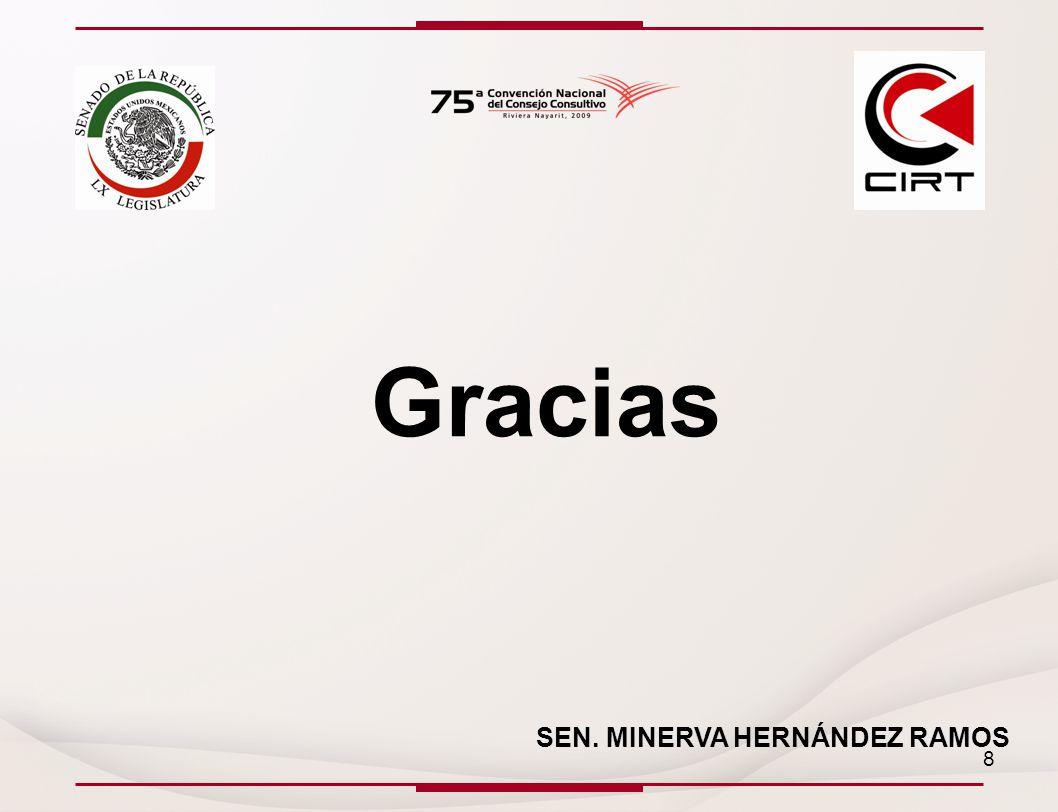 Gracias SEN. MINERVA HERNÁNDEZ RAMOS 8