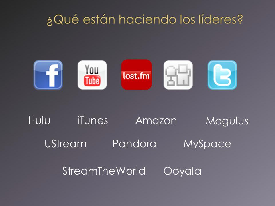 Pandora iTunes MySpaceUStream HuluAmazon Mogulus StreamTheWorldOoyala