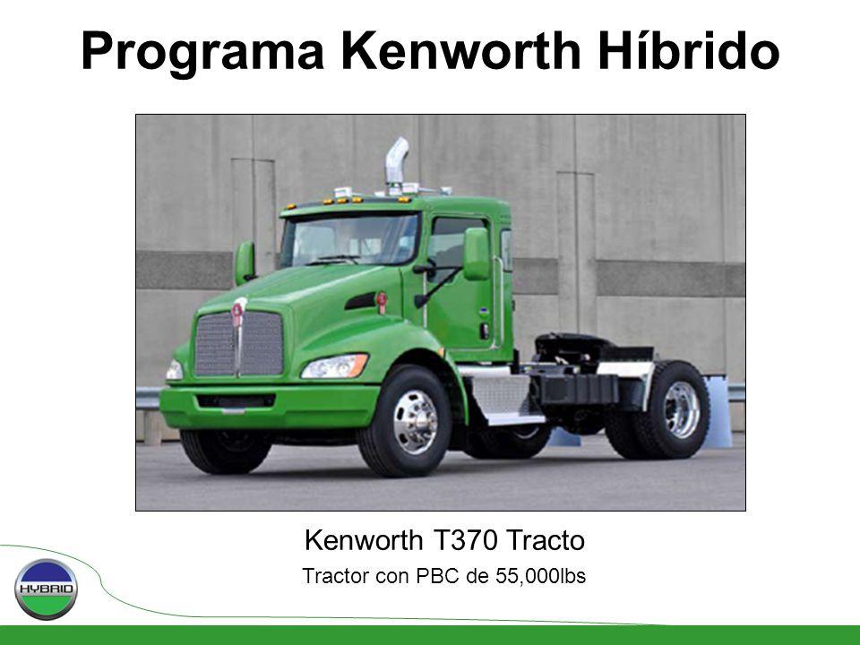 Kenworth T370 Tracto Tractor con PBC de 55,000lbs