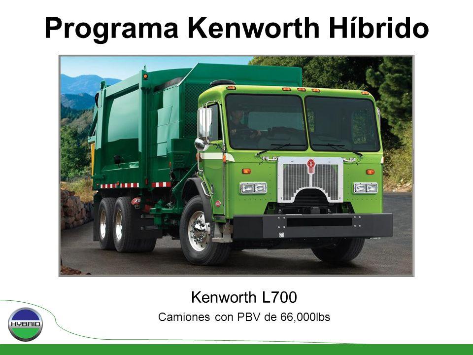 Programa Kenworth Híbrido Kenworth L700 Camiones con PBV de 66,000lbs