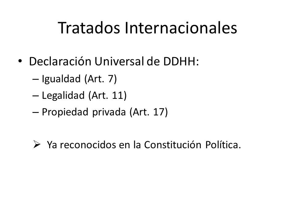 Tratados Internacionales Declaración Universal de DDHH: – Igualdad (Art.