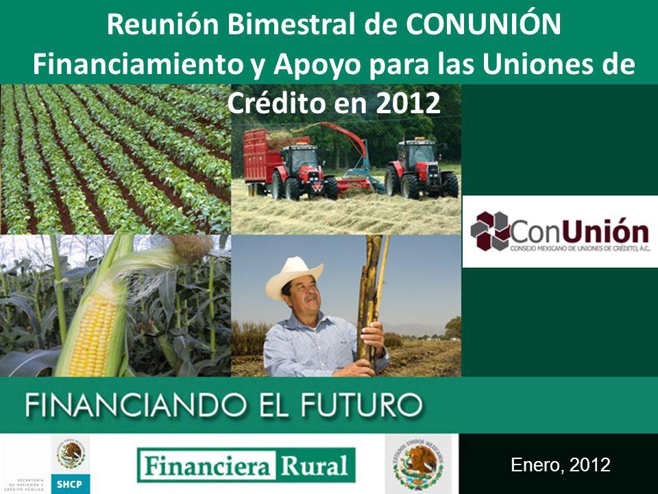 Enero, 2012 Reunión Bimestral de CONUNIÓN Financiamiento y Apoyo para las Uniones de Crédito en 2012