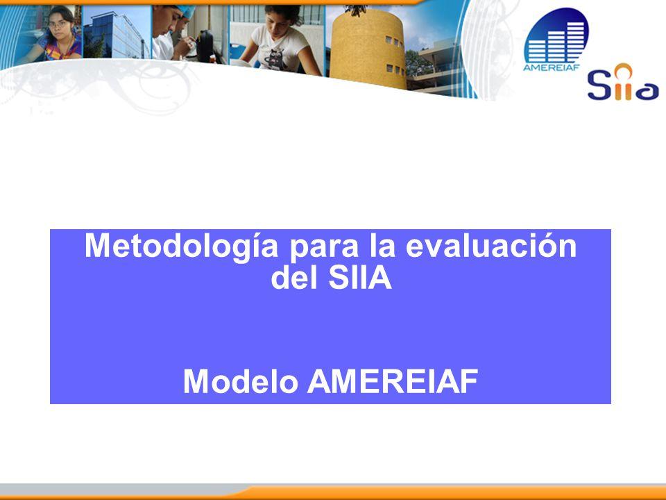 Metodología para la evaluación del SIIA Modelo AMEREIAF