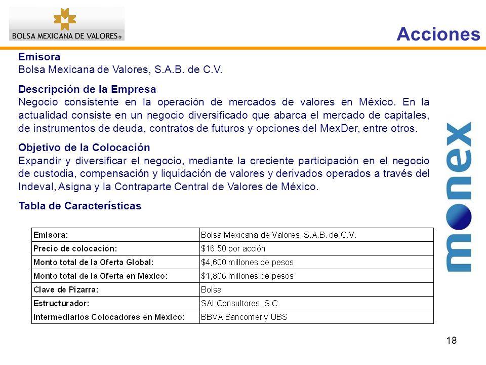 18 Emisora Bolsa Mexicana de Valores, S.A.B.de C.V.