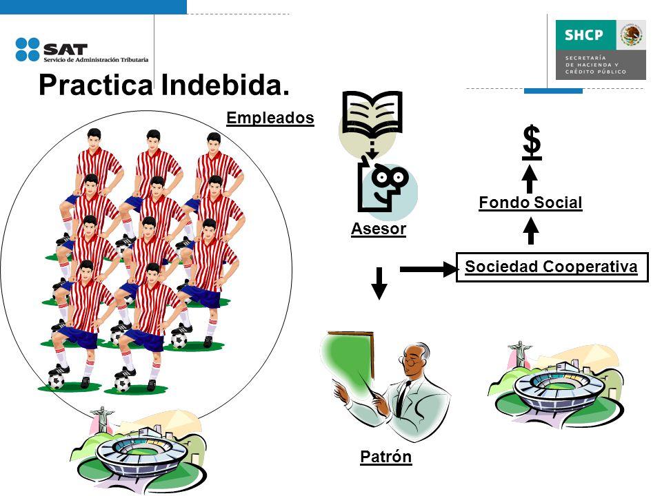 Practica Indebida. Empleados Asesor Sociedad Cooperativa Patrón Fondo Social $
