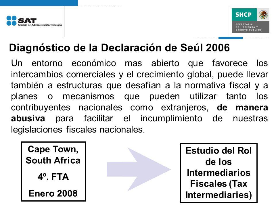 Diagnóstico de la Declaración de Seúl 2006 Un entorno económico mas abierto que favorece los intercambios comerciales y el crecimiento global, puede l