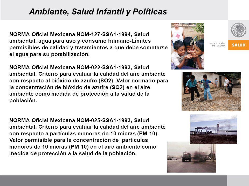NORMA Oficial Mexicana NOM-127-SSA1-1994, Salud ambiental, agua para uso y consumo humano-Límites permisibles de calidad y tratamientos a que debe someterse el agua para su potabilización.