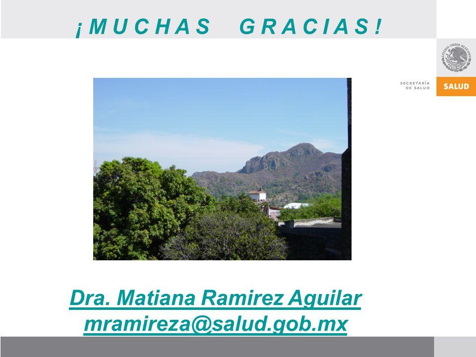¡ M U C H A S G R A C I A S ! Dra. Matiana Ramirez Aguilar mramireza@salud.gob.mx