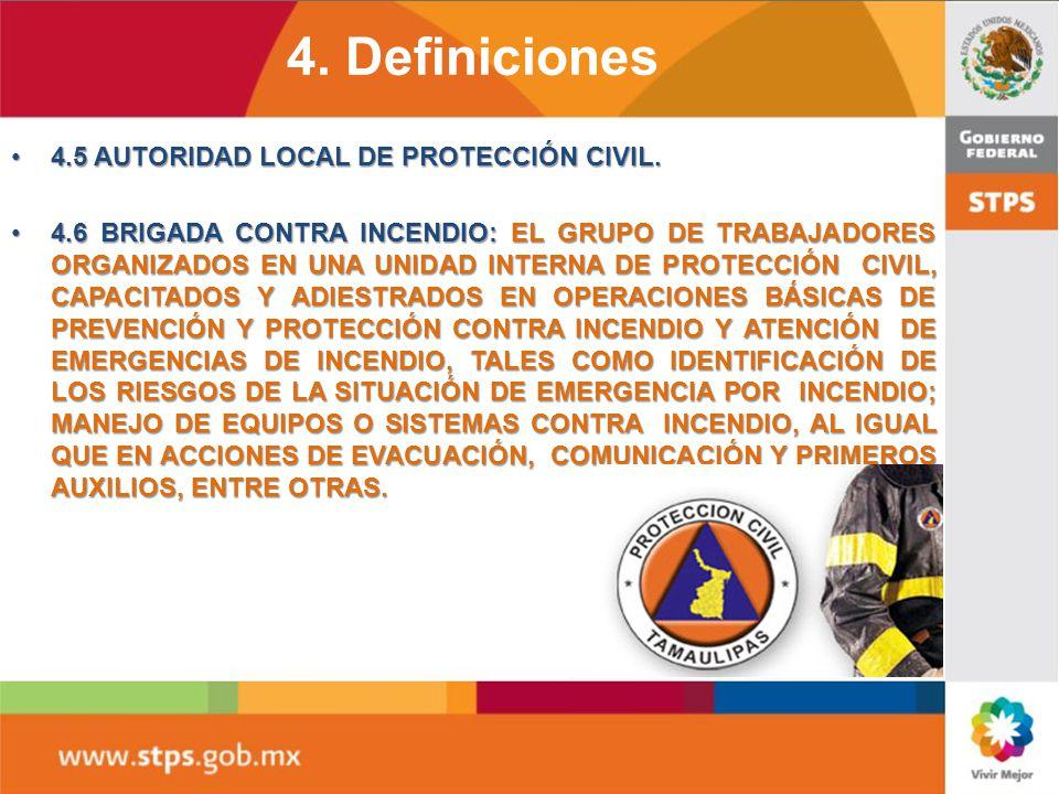 4. Definiciones 4.1 Agente extintor; Agente extinguidor: Es la sustancia o mezcla de ellas que apaga un fuego, al contacto con un material en combusti