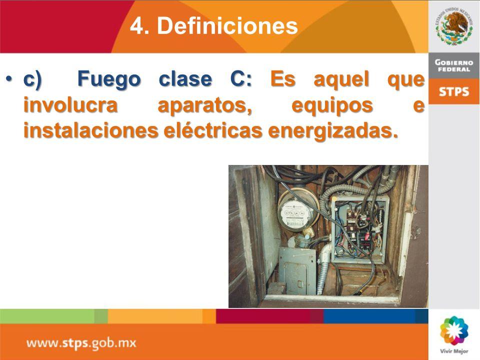 b) Fuego clase B: Es aquel que se presenta en líquidos combustibles e inflamables y gases inflamables;b) Fuego clase B: Es aquel que se presenta en lí