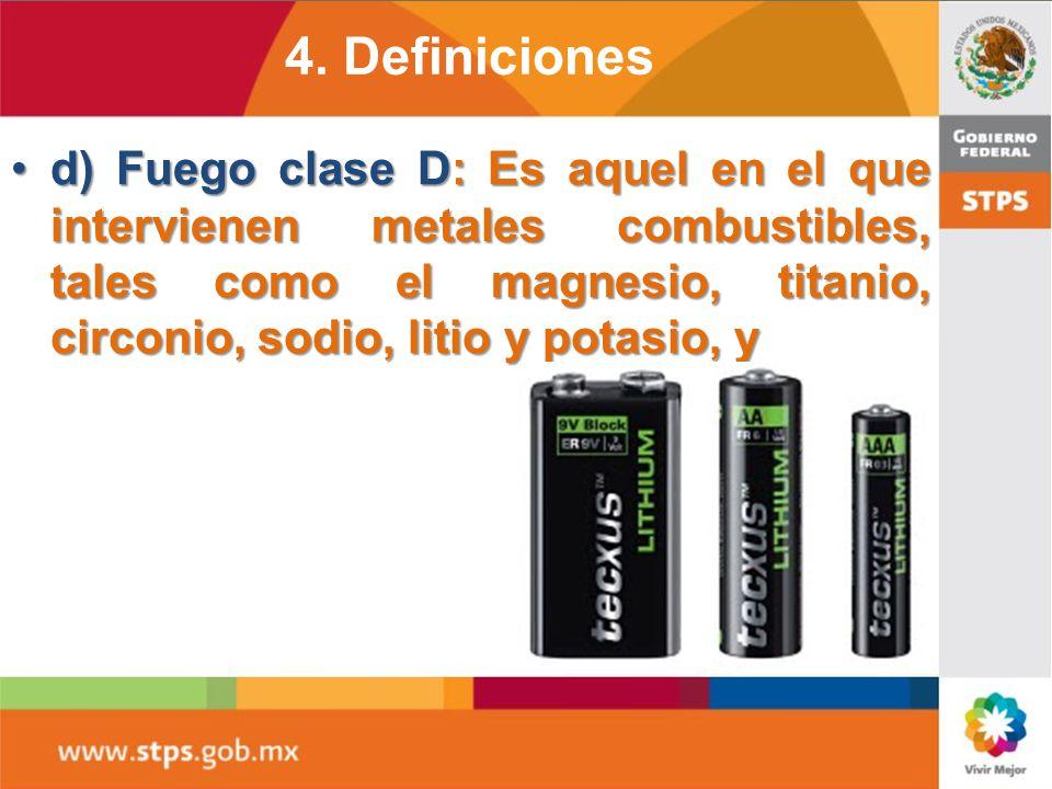 c) Fuego clase C: Es aquel que involucra aparatos, equipos e instalaciones eléctricas energizadas.c) Fuego clase C: Es aquel que involucra aparatos, e