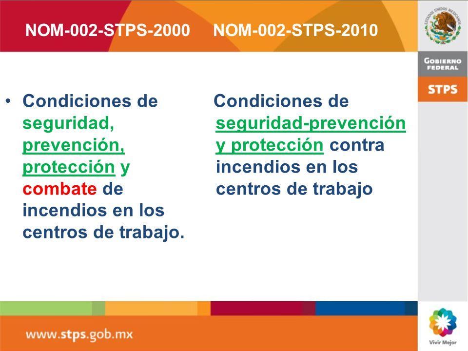 PUBLICACIÓN: 9 de diciembre del año 2010,, publicó en el Diario Oficial de la Federación. NOMBRE: Condiciones de seguridad - Prevención y protección c