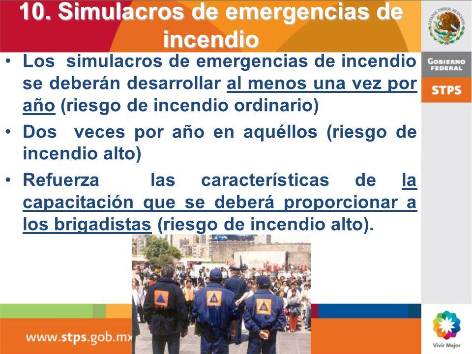 9. Brigadas contra incendio 1 Para determinar el número de integrantes:9.1 Para determinar el número de integrantes: 9.2 Deberán ser seleccionados ent
