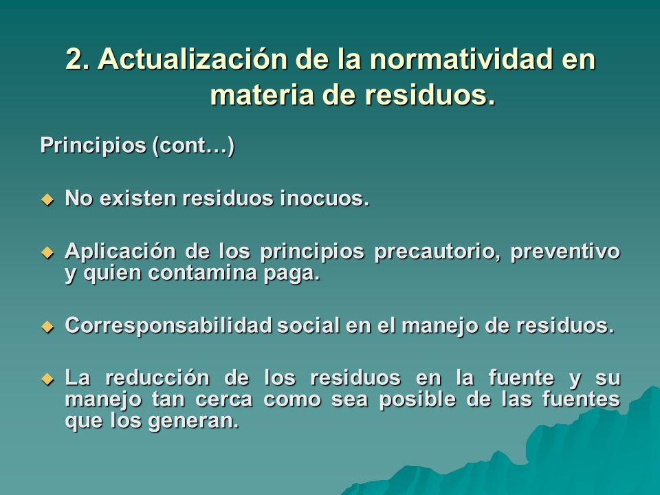 2.Actualización de la normatividad en materia de residuos.