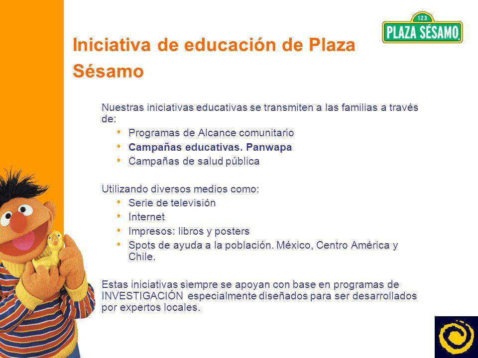 6 Iniciativa de educación de Plaza Sésamo Nuestras iniciativas educativas se transmiten a las familias a través de: Programas de Alcance comunitario C