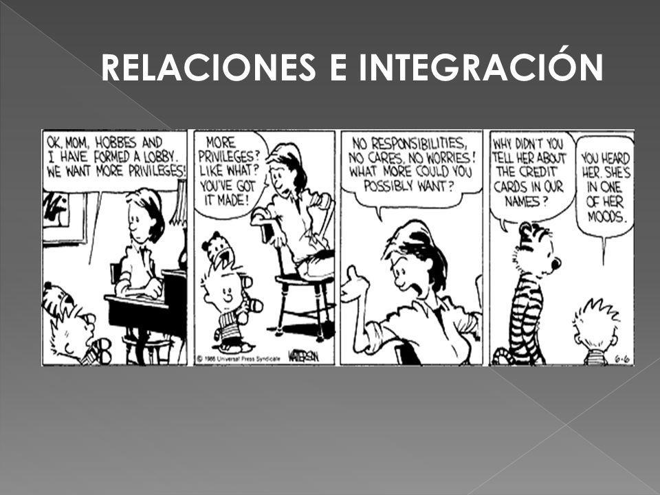 RELACIONES E INTEGRACIÓN