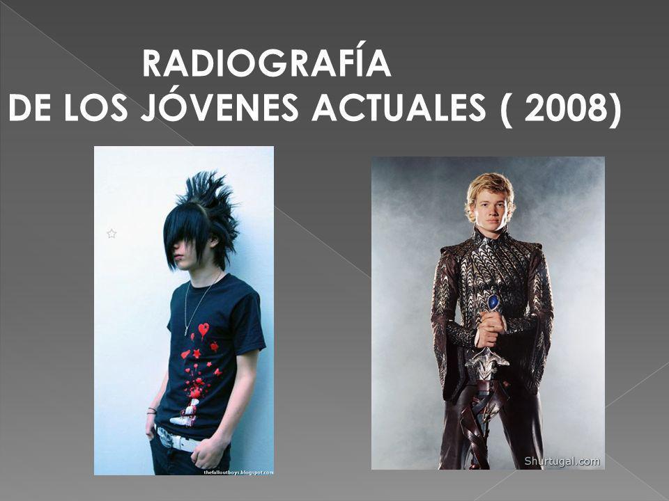 RADIOGRAFÍA DE LOS JÓVENES ACTUALES ( 2008)