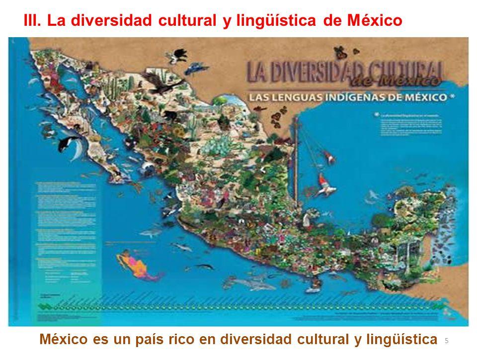 La población que se reconoce como indígena en México es de cerca de 16 millones: Casi el 15% del total de habitantes del país Cerca de 7 millones hablan alguna lengua indígena Mas de 1 millón y medio sigue siendo monolingüe en lengua indígena.
