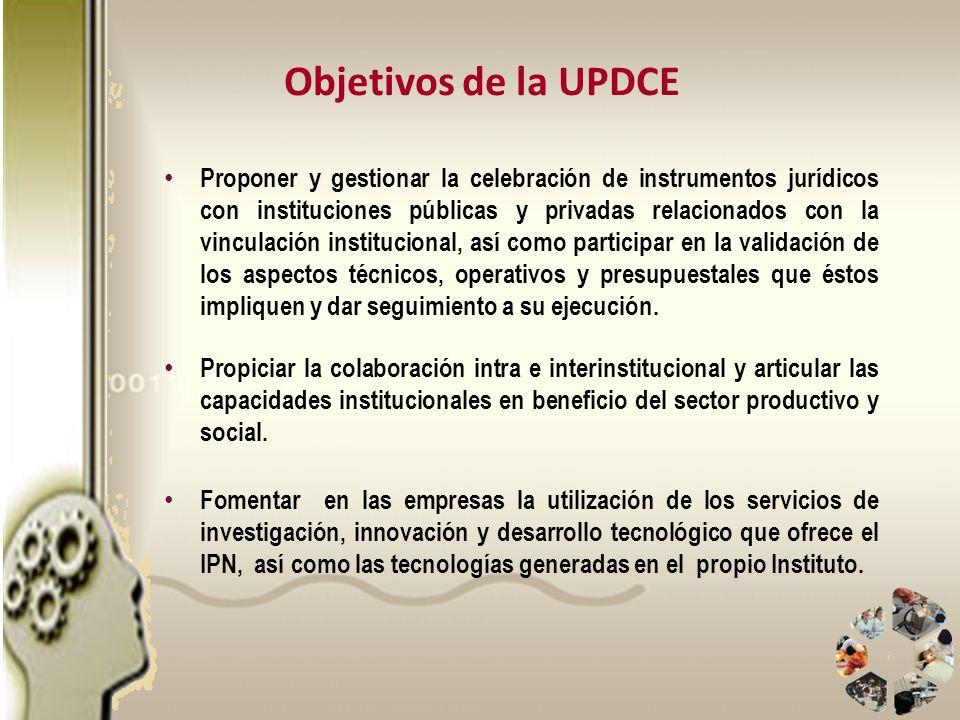 Proponer y gestionar la celebración de instrumentos jurídicos con instituciones públicas y privadas relacionados con la vinculación institucional, así