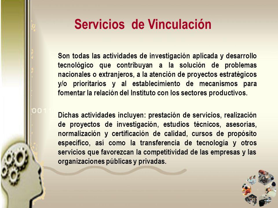 Son todas las actividades de investigación aplicada y desarrollo tecnológico que contribuyan a la solución de problemas nacionales o extranjeros, a la