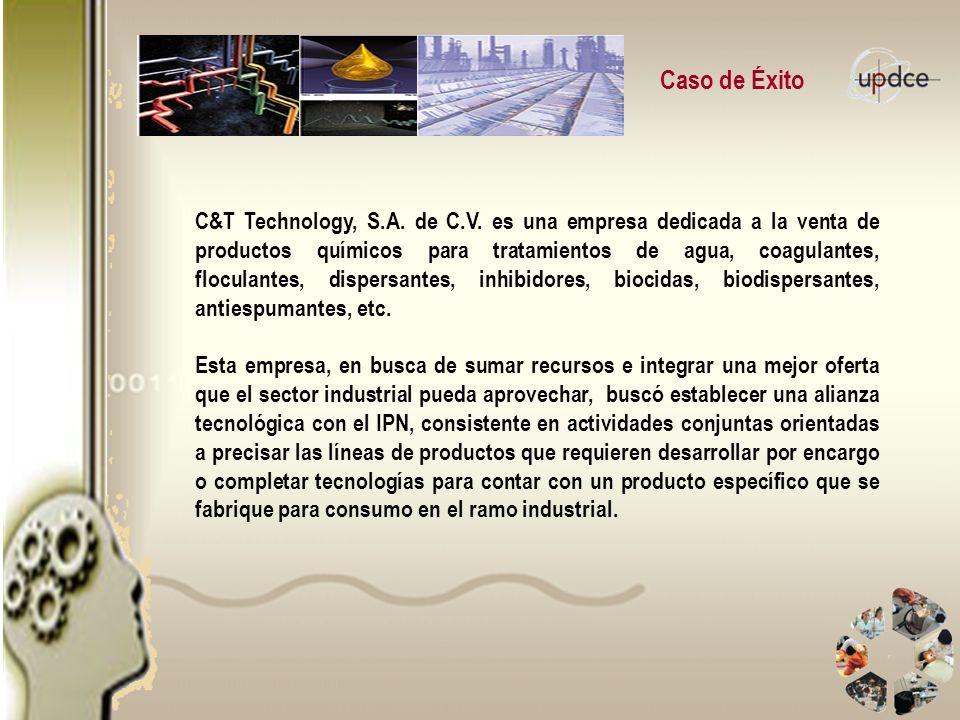 Caso de Éxito C&T Technology, S.A. de C.V. es una empresa dedicada a la venta de productos químicos para tratamientos de agua, coagulantes, floculante
