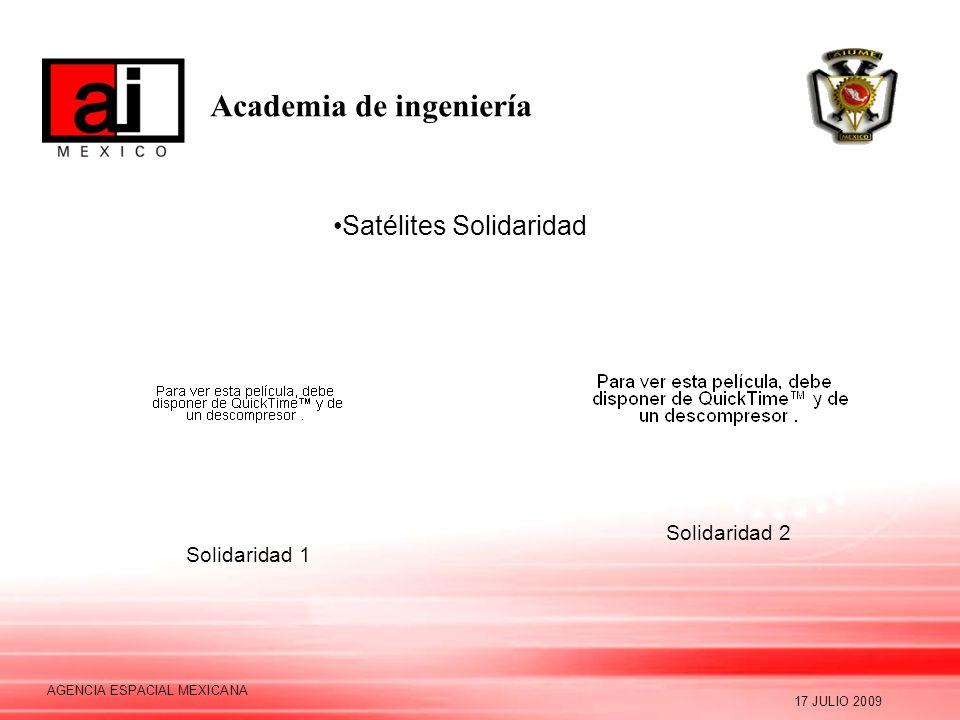 Academia de ingeniería 17 JULIO 2009 AGENCIA ESPACIAL MEXICANA Factibilidad: Formación de Recursos Humanos Financiera Conclusión