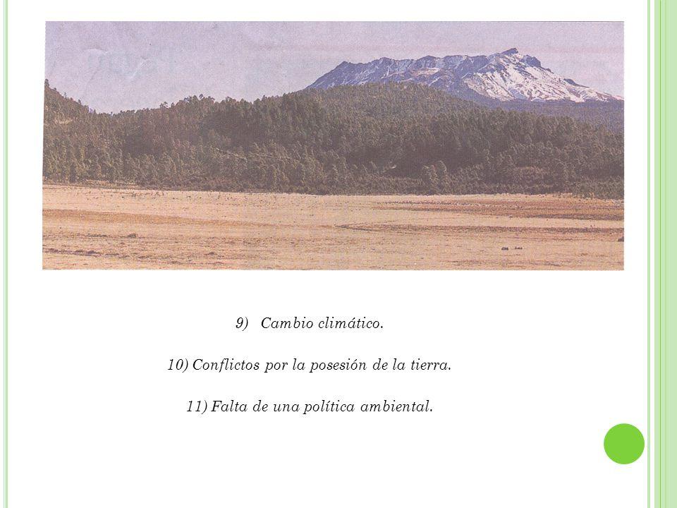 EJEMPLOS: 1) Bosque de la Malinche en Tlaxcala, mismo que se declaró un Parque Nacional y no hay vigilancia, por parte de Semarnat, Profepa y la Comisión Nacional de Áreas Naturales Protegidas (CNANP); tampoco dan autonomía al Gobierno Local, para ello.