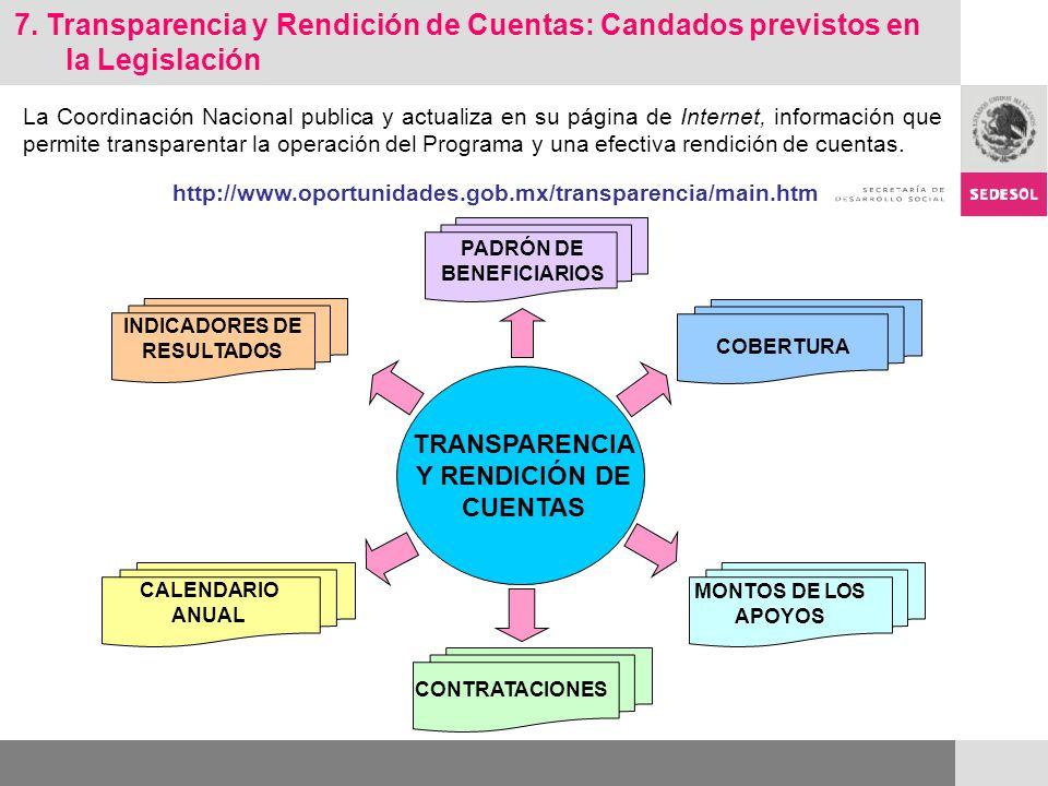 La Coordinación Nacional publica y actualiza en su página de Internet, información que permite transparentar la operación del Programa y una efectiva rendición de cuentas.