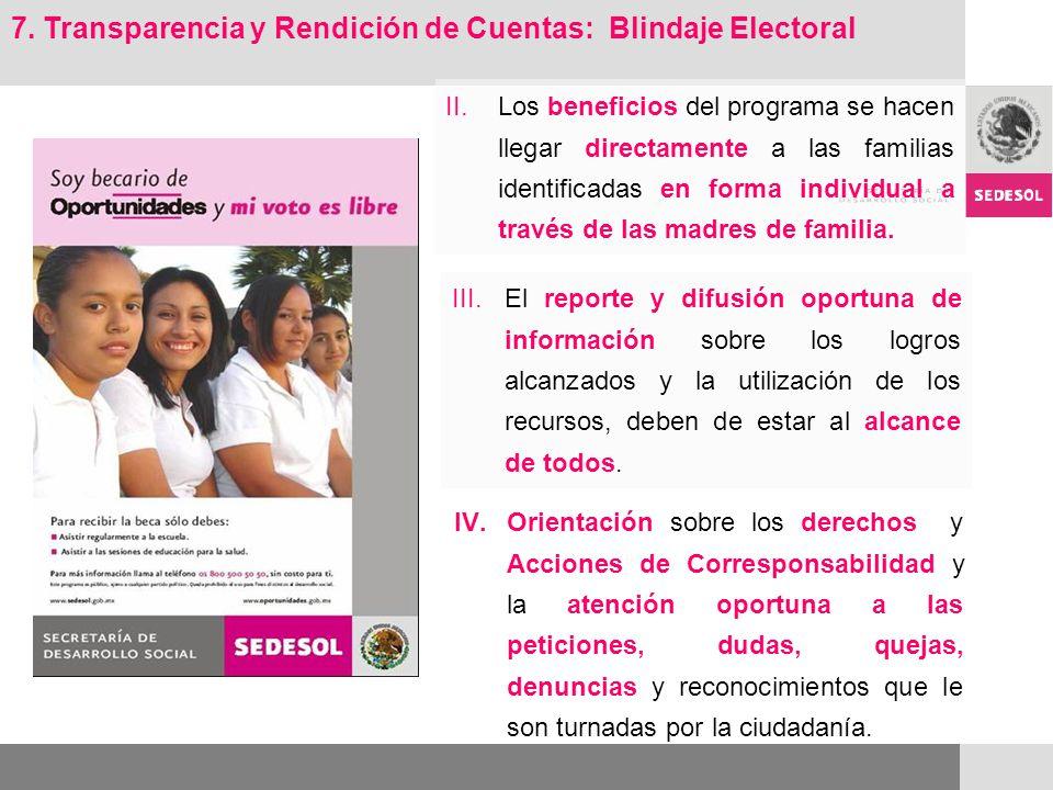 Para cumplir con el propósito de transparencia, el programa adopta 10 medidas de blindaje electoral : 1.Ingreso al padrón solo mediante una encuesta de características socioeconómicas de cada hogar.
