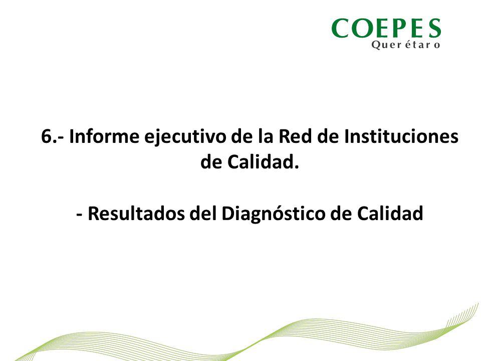 6.- Informe ejecutivo de la Red de Instituciones de Calidad.