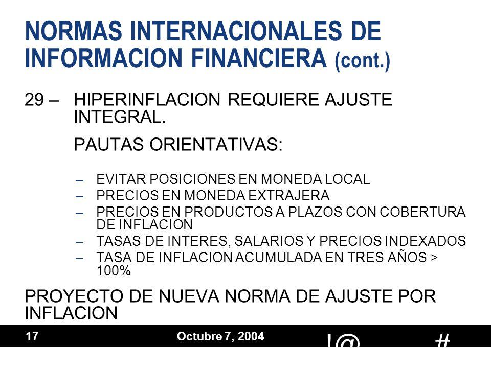 18 de octubre 2004:
