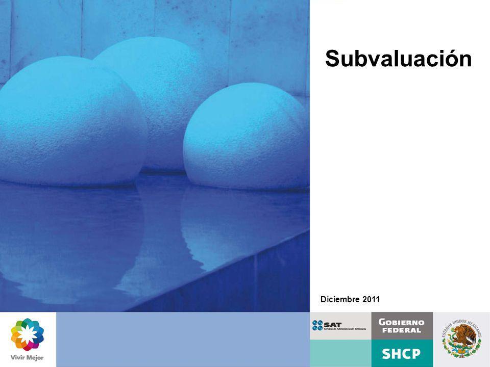 La subvaluación, es una modalidad del contrabando técnico, que se presenta al declarar en la importación un valor en aduana menor al realmente pagado por la mercancía, disminuyendo así la base gravable con el objeto de pagar menos contribuciones.