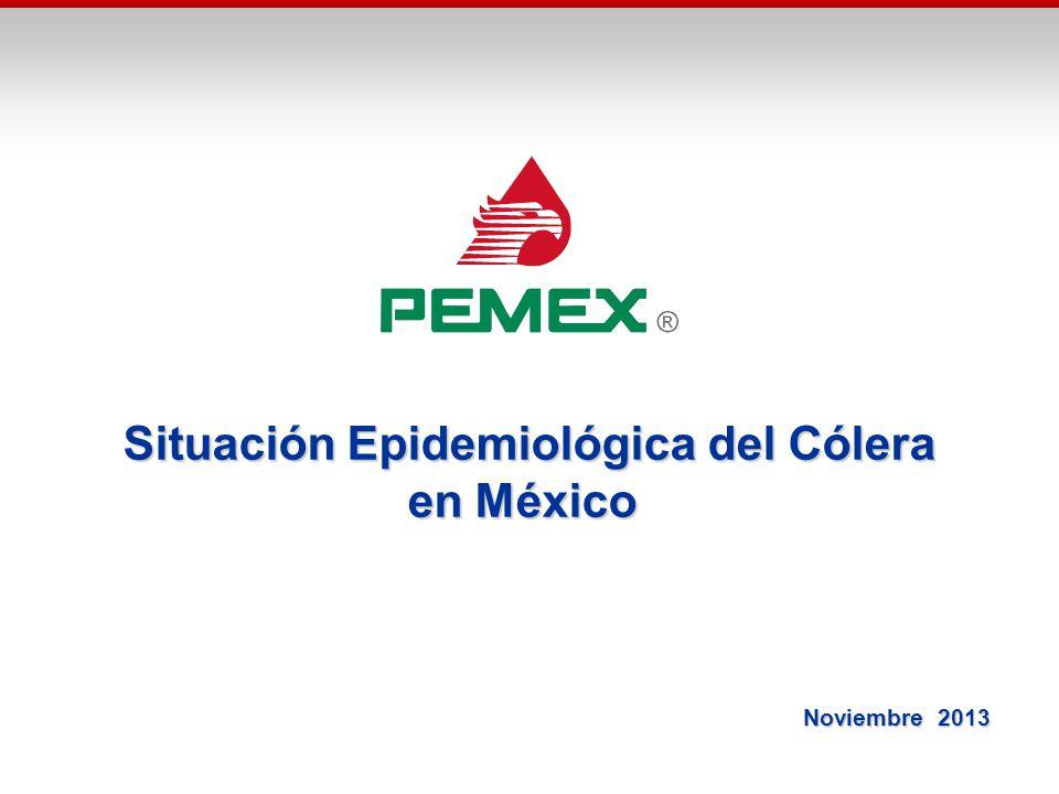Situación Epidemiológica del Cólera en México Noviembre 2013