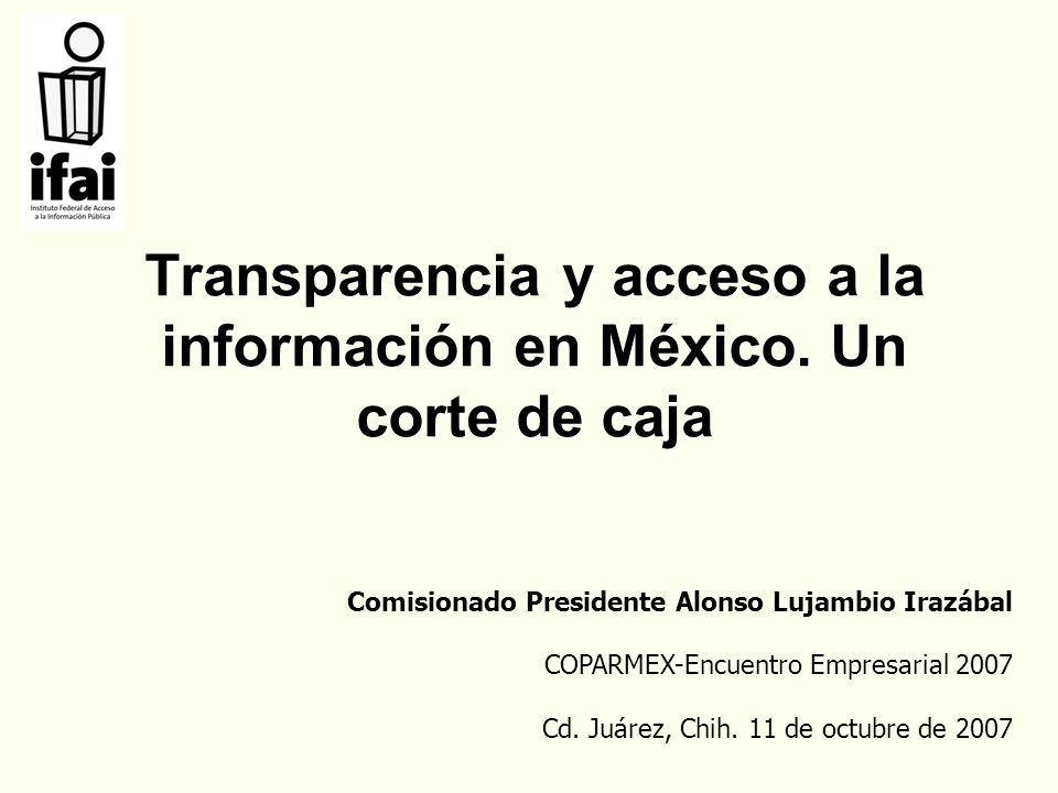 Transparencia y acceso a la información en México.
